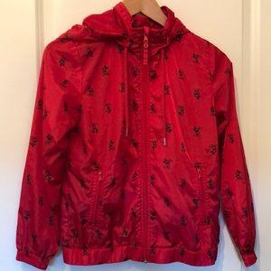 Disney Mickey Mouse girls lg hooded rain jacket